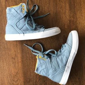 Supra boys hightop sneakers 13/31 skytop blue